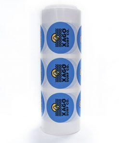 Etiquetas en bobina redondas