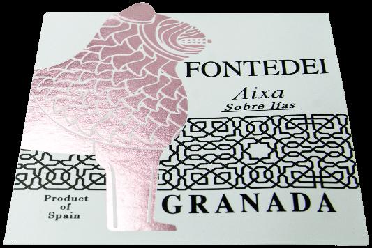 Pegatina personalizada para vino
