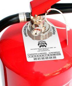 Etiqueta extintor de color blanca