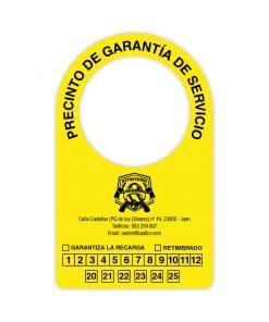 Etiqueta extintor amarilla