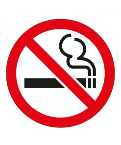 Pegatina prohibido fumar