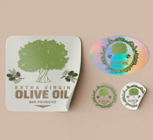 Etiquetas aceite de oliva ecologico