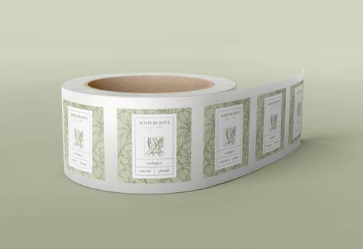 Etiquetas personalizadas de aceite de oliva